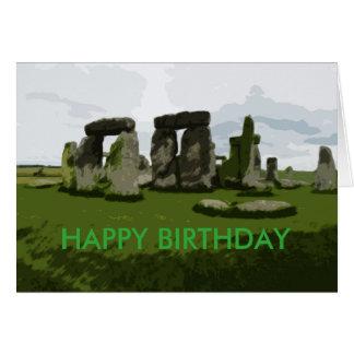 Carte Joyeux anniversaire plus jeune que Stonehenge