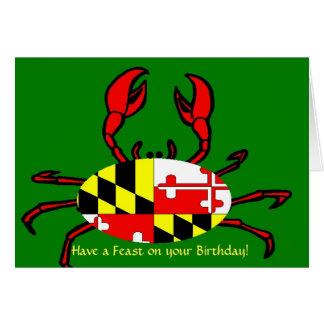 Carte Joyeux anniversaire pour Marylanders