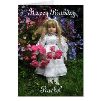 Carte Joyeux anniversaire Rachel