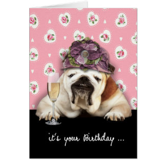 Carte joyeux anniversaire, vieillissant, humour, chien