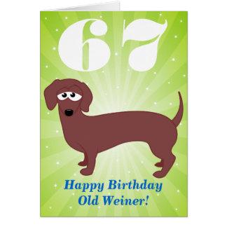 Carte Joyeux anniversaire vieux Weiner