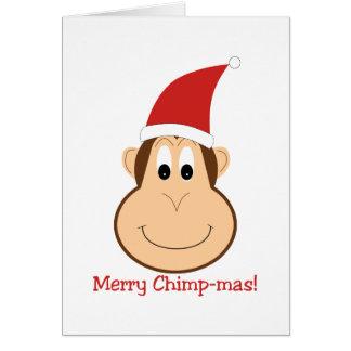Carte Joyeux Chimpmas ! Cadeaux de Noël