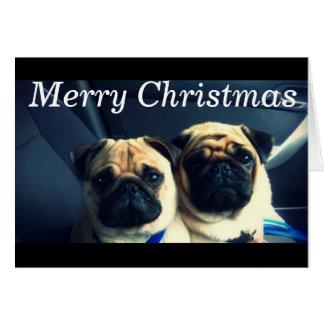 Carte Joyeux Noël de carlin