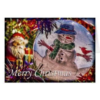 Carte Joyeux Noël de givré et de Père Noël