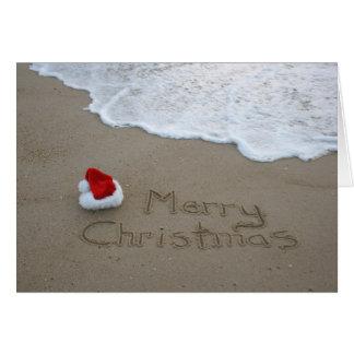 Carte Joyeux Noël de la plage