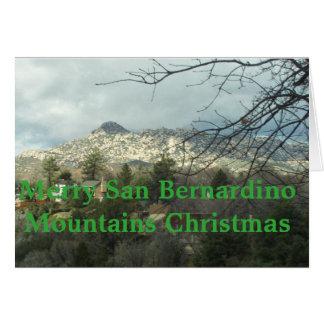 Carte Joyeux Noël de montagnes de San Bernardino
