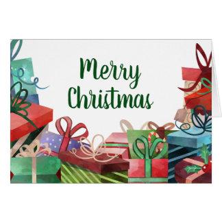 Carte Joyeux Noël de pile actuelle