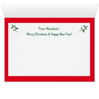 Carte Joyeux Noël du Maryland
