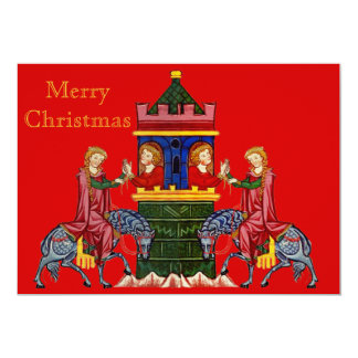 Carte Joyeux Noël médiéval