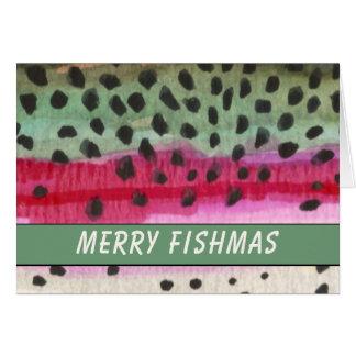 Carte Joyeux pêcheur de truite de Fishmas