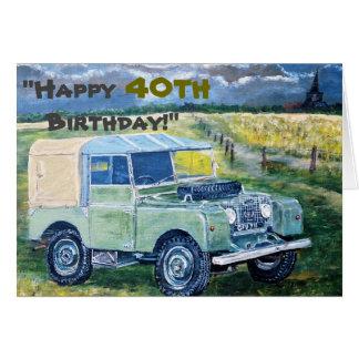 """Carte """"Joyeux quarantième anniversaire ! """""""