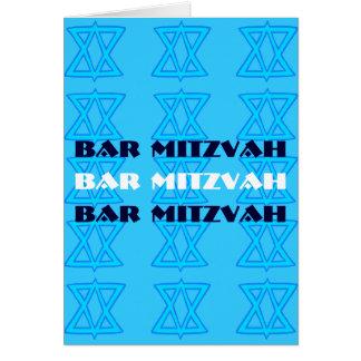 Carte juive de la BARRE MITZVAH d'étoile