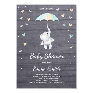 Carte Jungle de bleu de garçon d'invitation de baby
