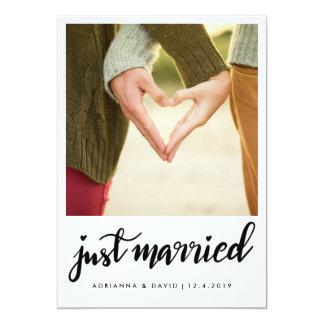 Carte Juste photo mariée de | épousant le manuscrit