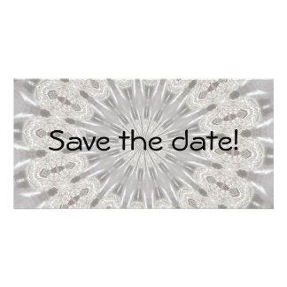 Carte Kaléidoscope blanc de mariage de dentelle (vos