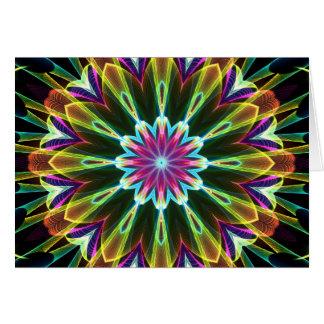 Carte Kaléidoscope de fleur de Trompet
