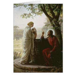 Carte Karl Heinrich Bloch - femme au puits