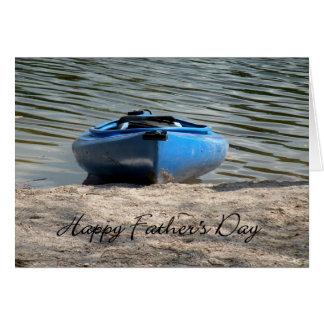 Carte Kayak de bleu de fête des pères