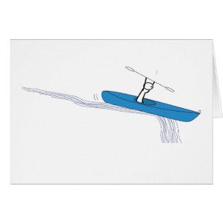 Carte Kayaker sur l'eau