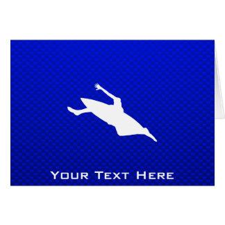 Carte Kayaking bleu
