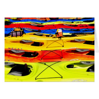 Carte Kayaks colorés