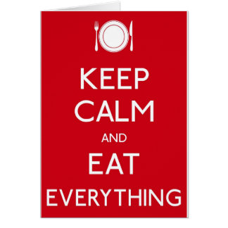 Carte Keep Calm and Eat