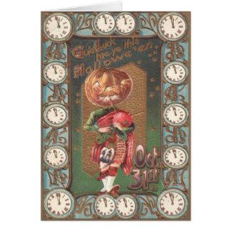 Carte Kilt de cornemuse de citrouille de Jack-o'-lantern