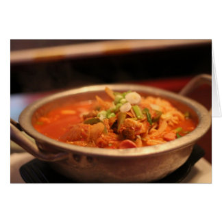 Carte Kimchi Jjigae (soupe)