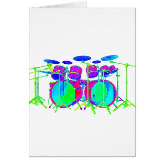 Carte Kit coloré de tambour