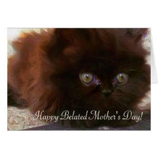 Carte Kittencard tardif heureux de Persan du jour de