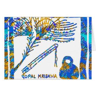 Carte Krishna - cannelure, babeurre de la plume n de