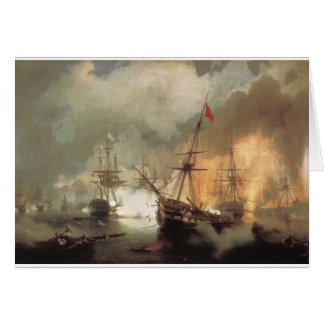 Carte La bataille de Navarino par Ivan Aivazovsky
