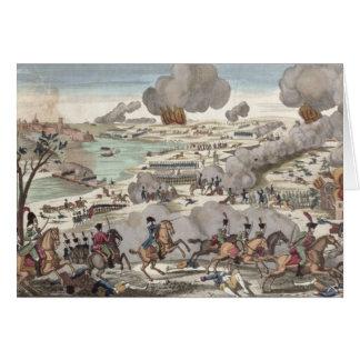 Carte La bataille de Wagram, le 6 juillet 1809 (gravure)