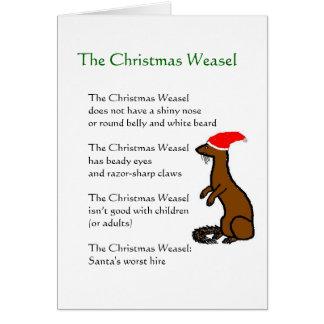 Carte La belette de Noël
