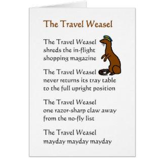 Carte La belette de voyage - un poème drôle de voyage de