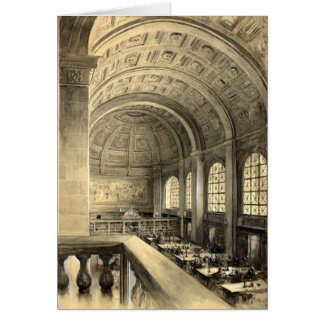 Carte La bibliothèque publique de Boston chipe Hall 1896