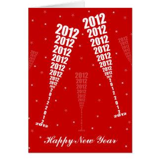 Carte La célébration 2012 - grillage de nouvelle année