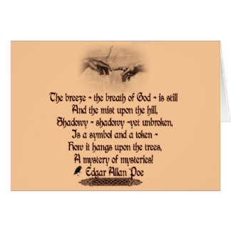 Carte La citation d'Edgar Allan Poe