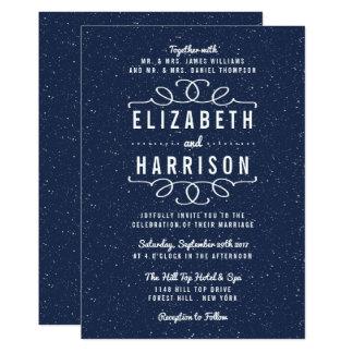 Carte La collection de mariage de nuit étoilée