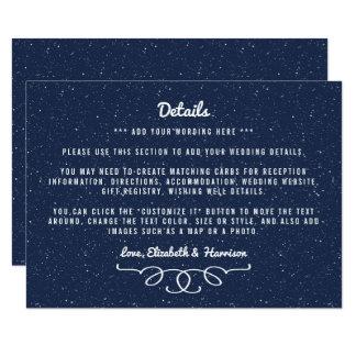 Carte La collection de mariage de nuit étoilée - détail