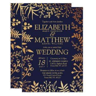 Carte La collection florale élégante de mariage de