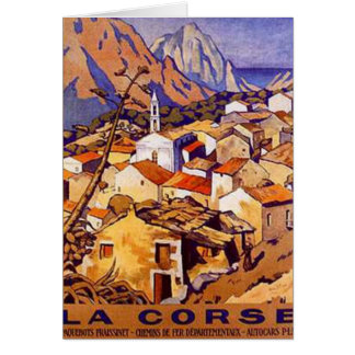 Carte La Corse vintage, France -