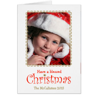 Carte La coutume a béni Noël et une grâce a rempli