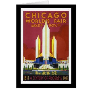 "Carte La ""Exposition universelle, Chicago, 1933"" crus"
