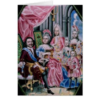 Carte La famille de l'empereur Peter I, le grand, 1717