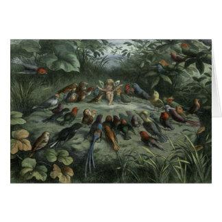 Carte La fée conduit des oiseaux chanteurs,