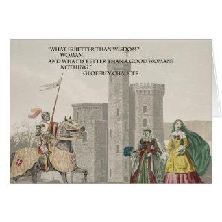 Carte La femme de Chaucer est meilleure que la sagesse