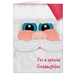Carte La filleule grand Père Noël de Joyeux Noël font