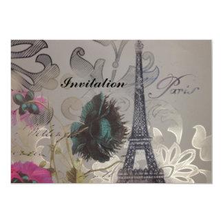 Carte La fleur chic minable tourbillonne Tour Eiffel de