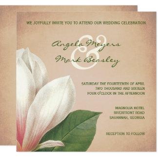 Carte La fleur de magnolia du sud épousant l'antiquité